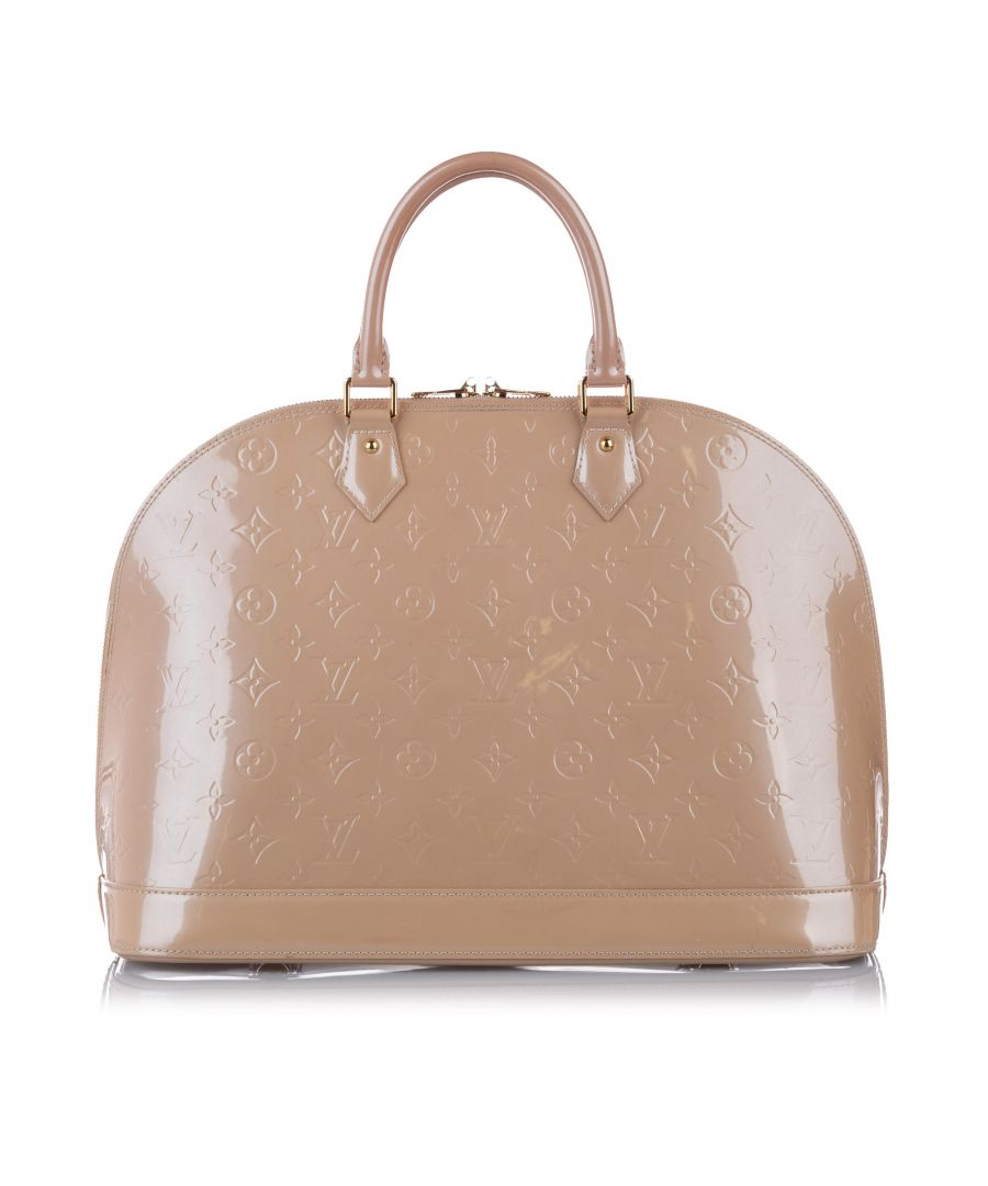 Image for Vintage Louis Vuitton Vernis Alma MM Brown