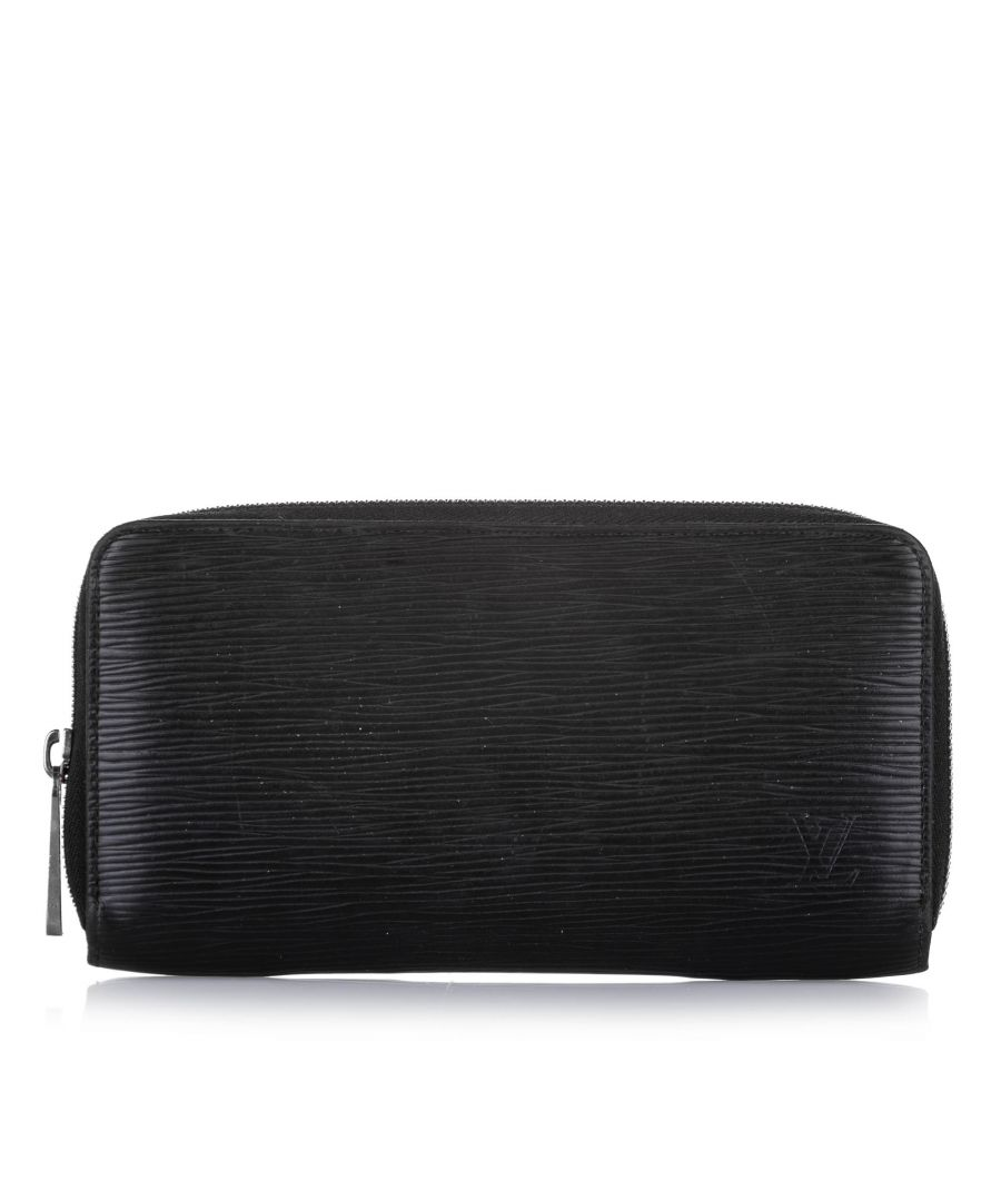 Image for Vintage Louis Vuitton Epi Zippy Long Wallet Black