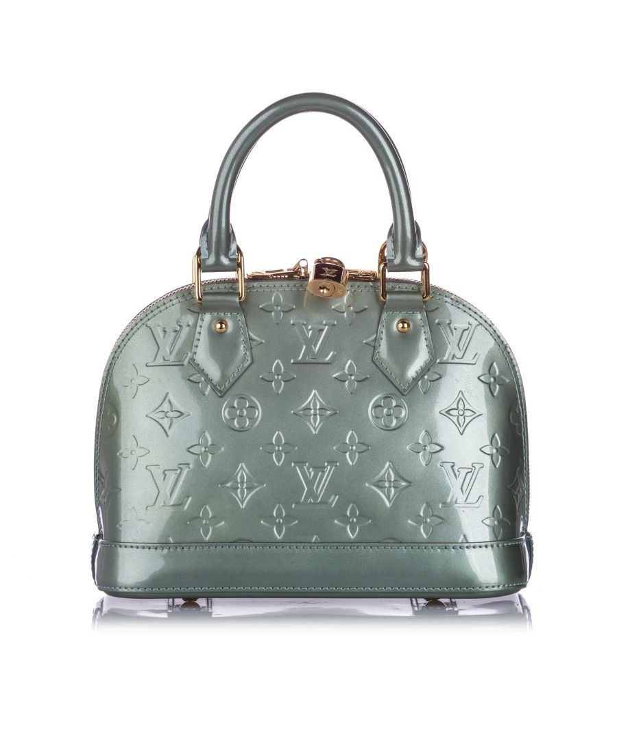 Image for Vintage Louis Vuitton Vernis Alma BB with Strap Gray