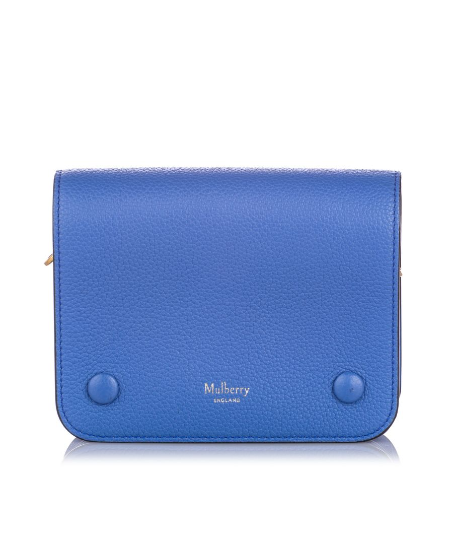 Image for Mulberry Small Clifton Leather Crossbody Bag Blue