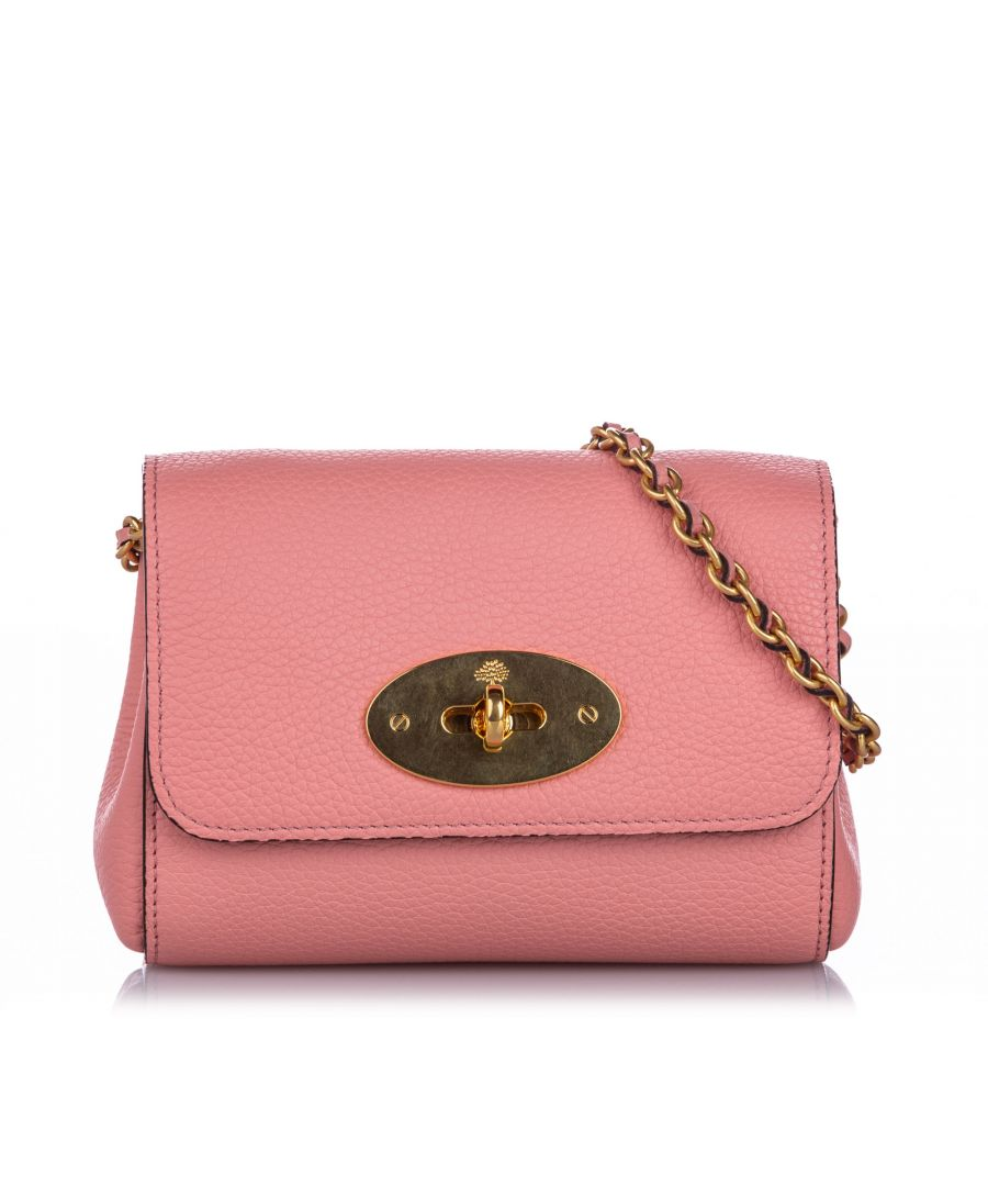 Image for Vintage Mulberry Mini Lily Leather Crossbody Bag Pink