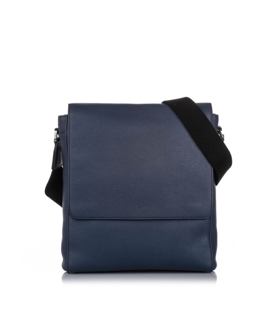 Image for Vintage Mulberry Slim Maxwell Leather Crossbody Bag Blue