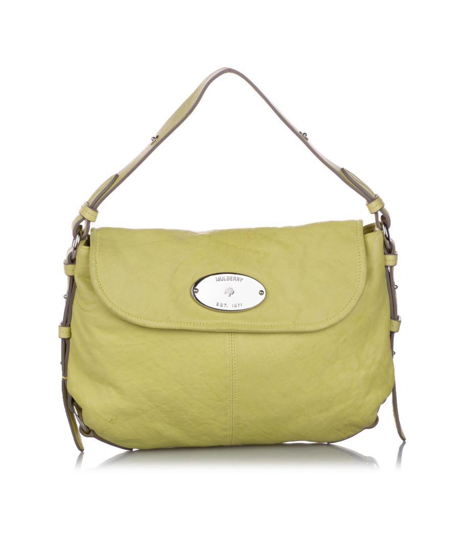 Image for Vintage Mulberry Hayden Leather Shoulder Bag Green