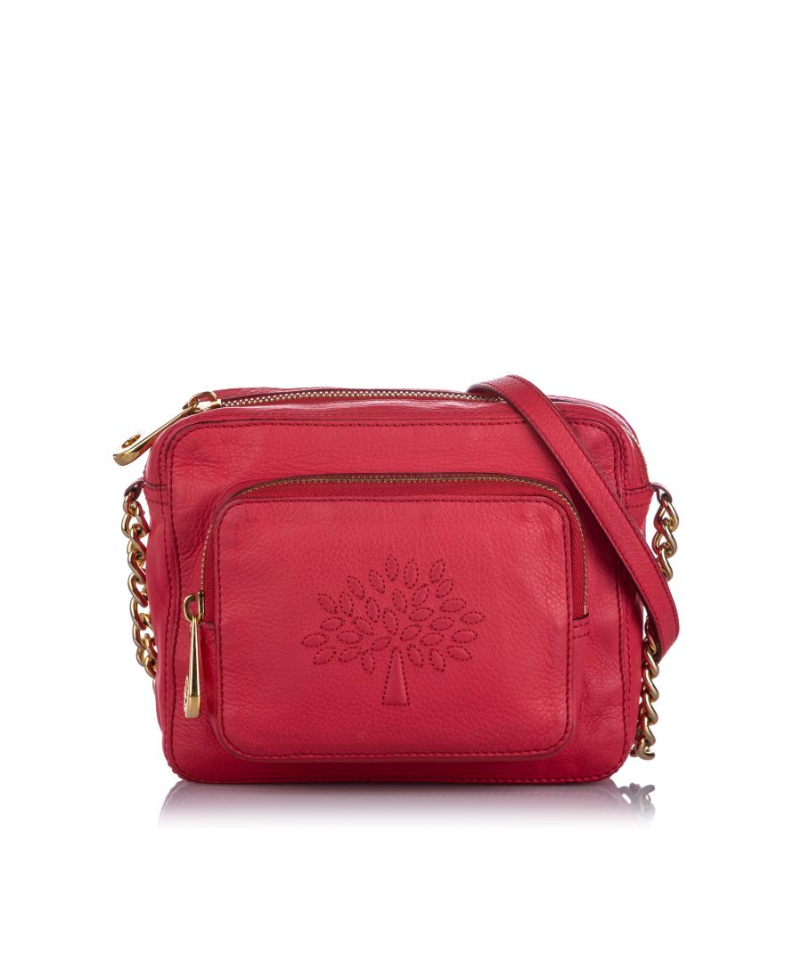 Image for Vintage Mulberry Leather Crossbody Bag Red