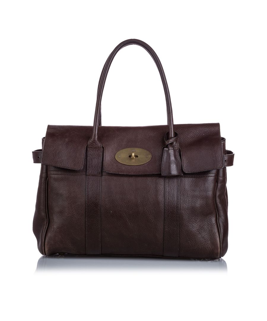 Image for Vintage Mulberry Bayswater Leather Handbag Brown