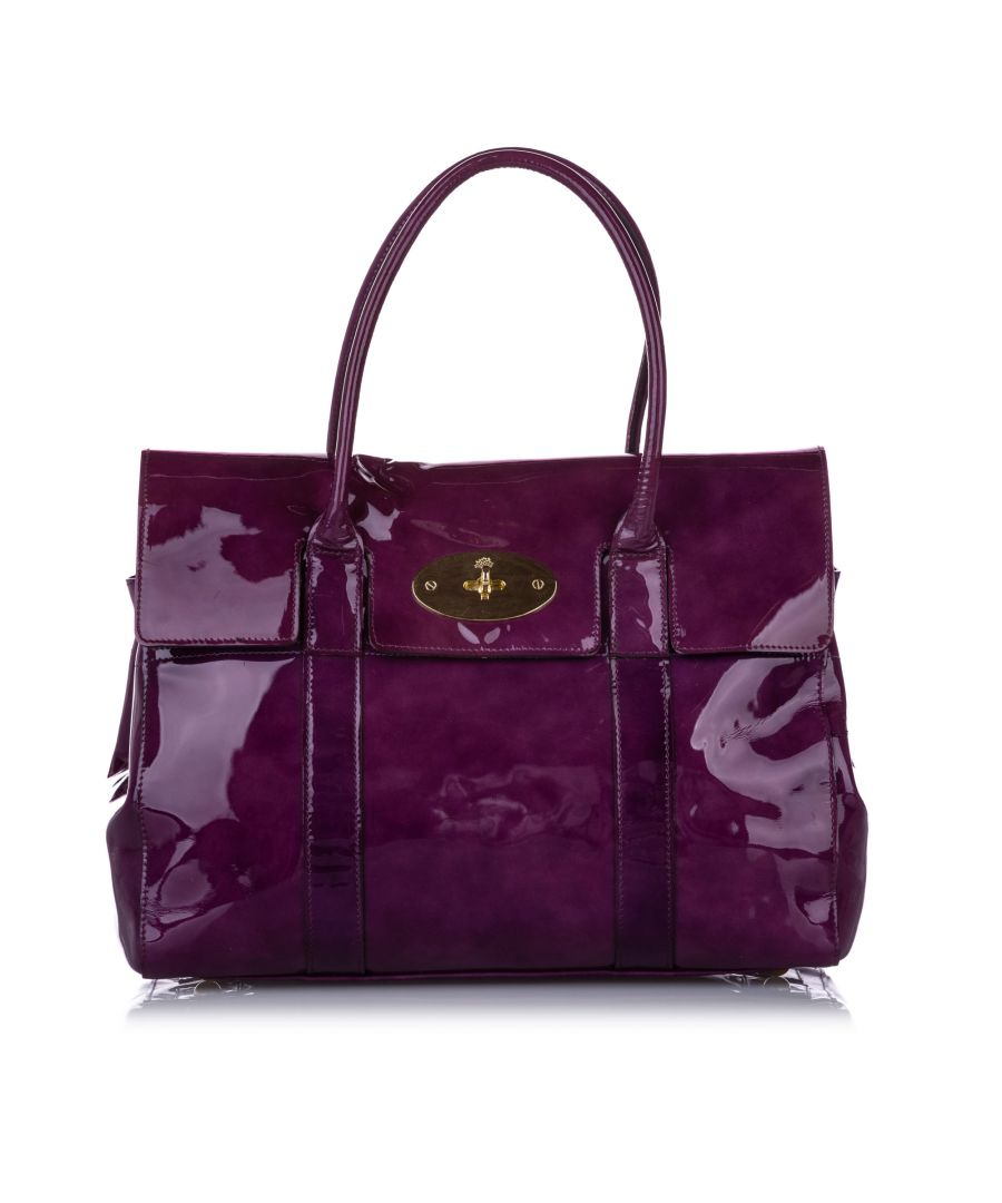 Image for Vintage Mulberry Bayswater Patent Leather Handbag Purple