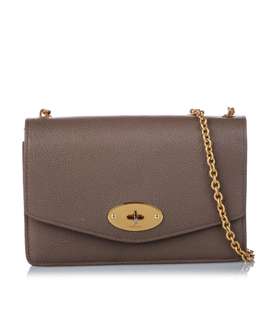 Image for Vintage Mulberry Bayswater Leather Wallet on Chain Brown