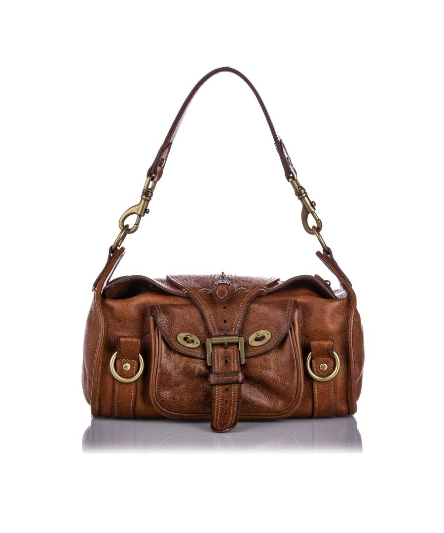 Image for Vintage Mulberry Leather Shoulder Bag Brown