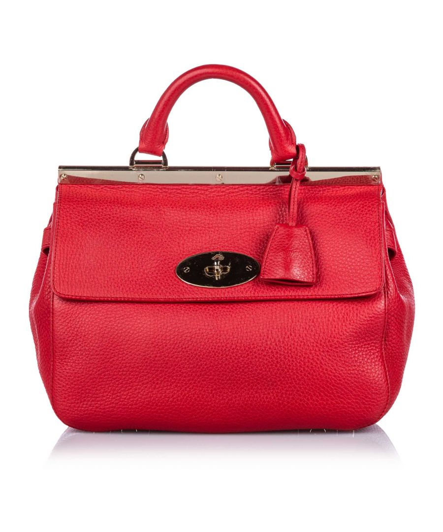 Image for Vintage Mulberry Small Leather Suffolk Satchel Red