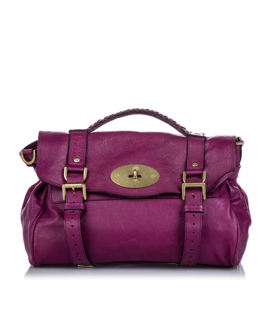 Image for Vintage Mulberry Leather Alexa Satchel Purple
