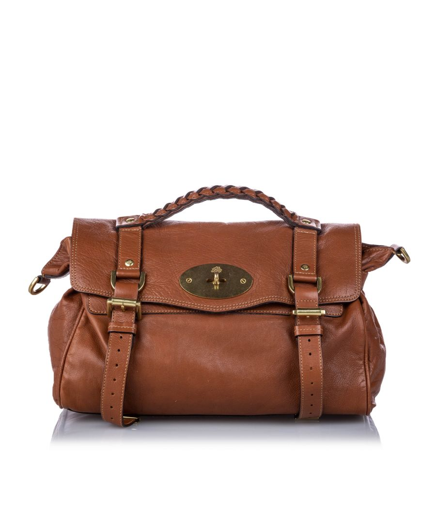 Image for Vintage Mulberry Leather Alexa Satchel Brown