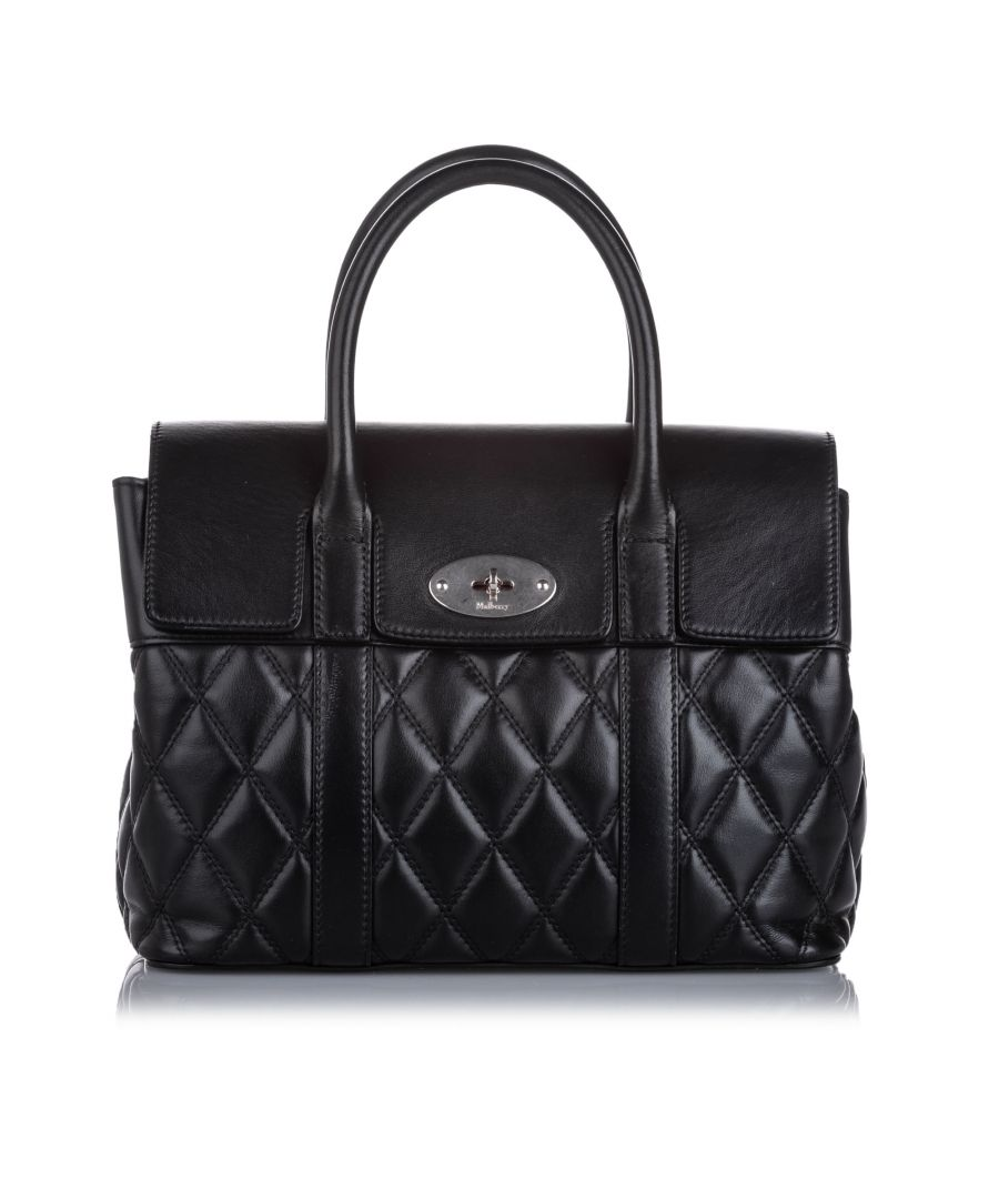 Image for Vintage Mulberry Small Quilted Leather Bayswater Satchel Black