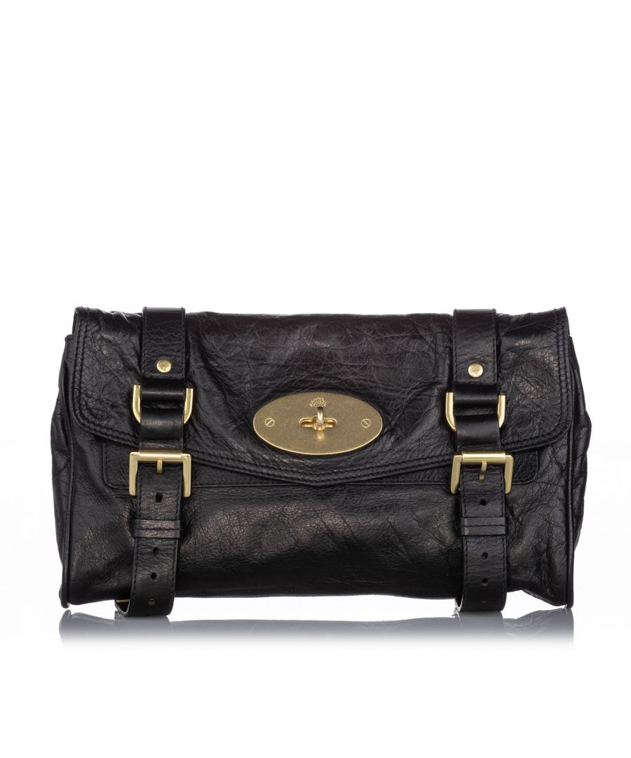 Image for Vintage Mulberry Alexa Leather Crossbody Bag Black
