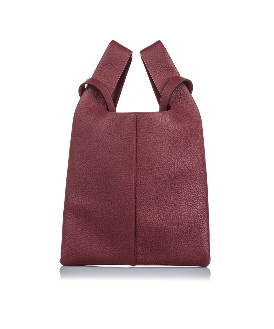 Image for Vintage Mulberry Leather Portobello Tote Red