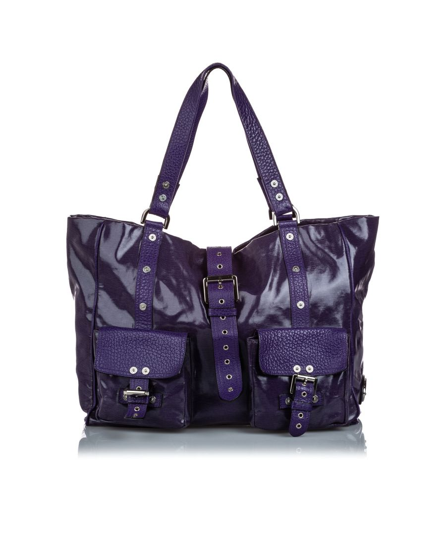 Image for Vintage Mulberry Roxanne Shoulder Bag Purple