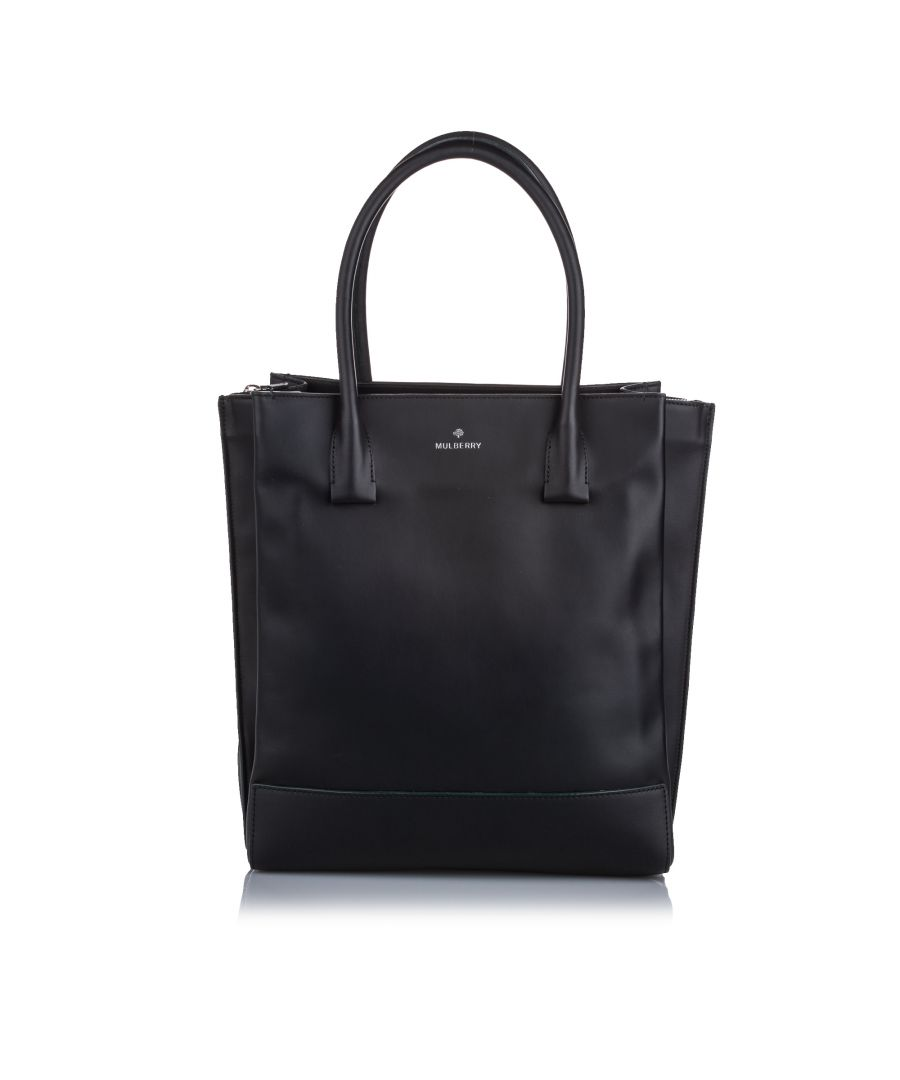Image for Vintage Mulberry Arundel Leather Tote Bag Black