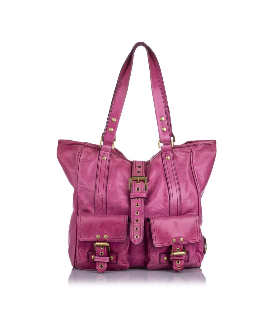Image for Vintage Mulberry Roxanne Shoulder Bag Pink