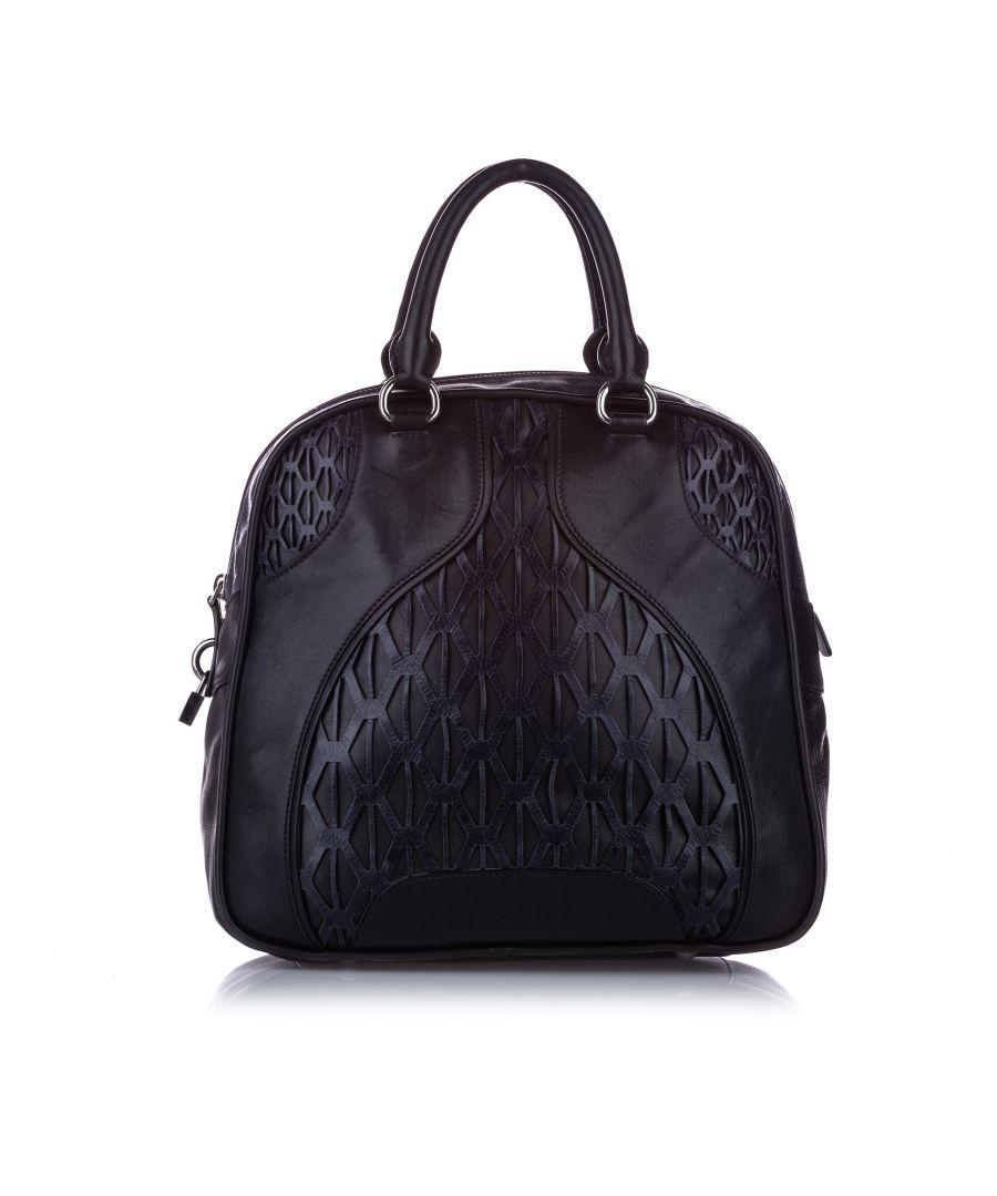 Image for Vintage Miu Miu Leather Handbag Black