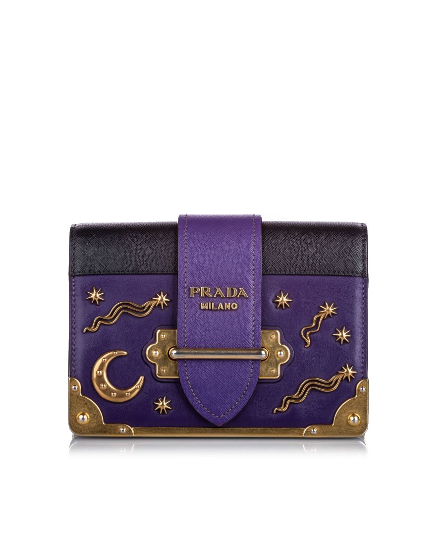 Image for Prada City Calf Cahier Astrology Purple