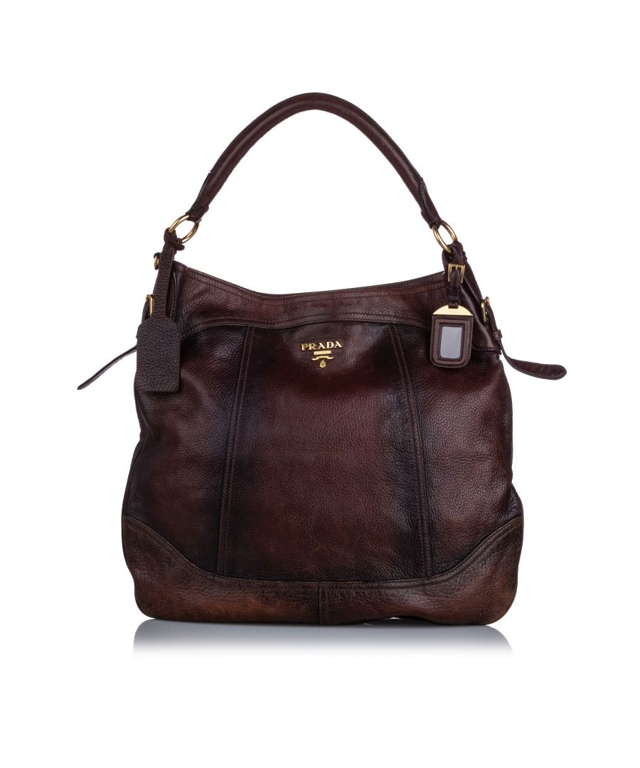 Image for Vintage Prada Cervo Antik Hobo Bag Brown