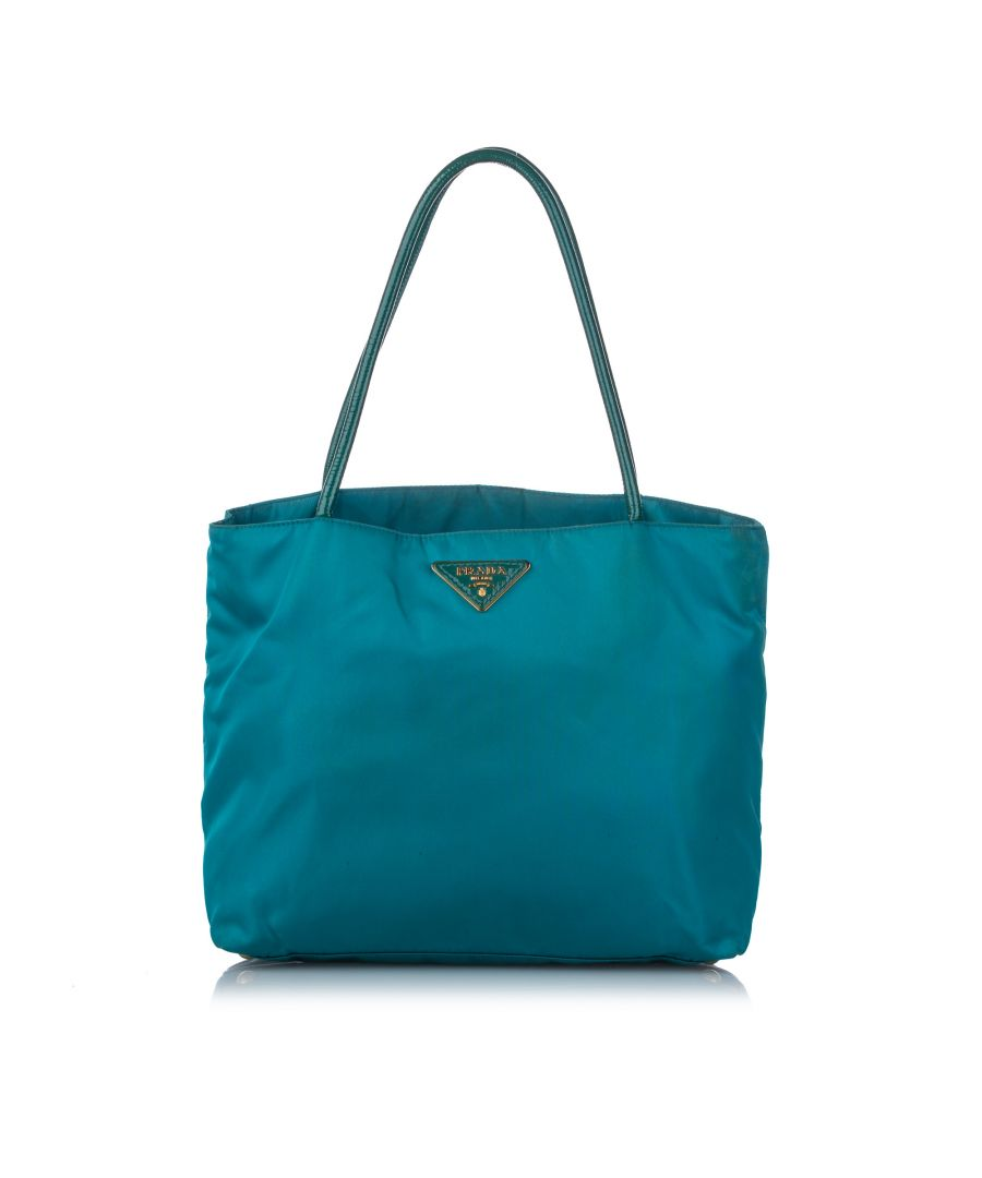 Image for Vintage Prada Tessuto Tote Bag Green