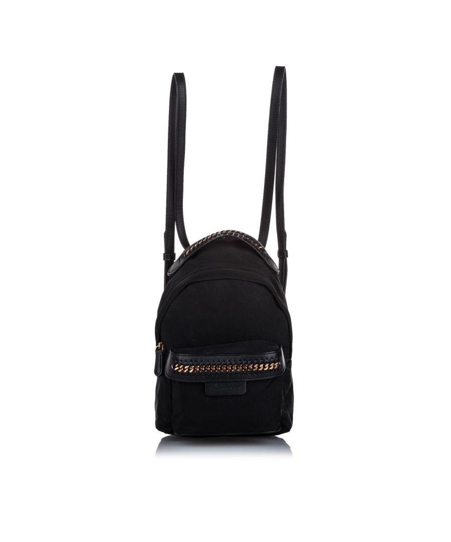 Image for Stella McCartney Mini Falabella Go Backpack Black
