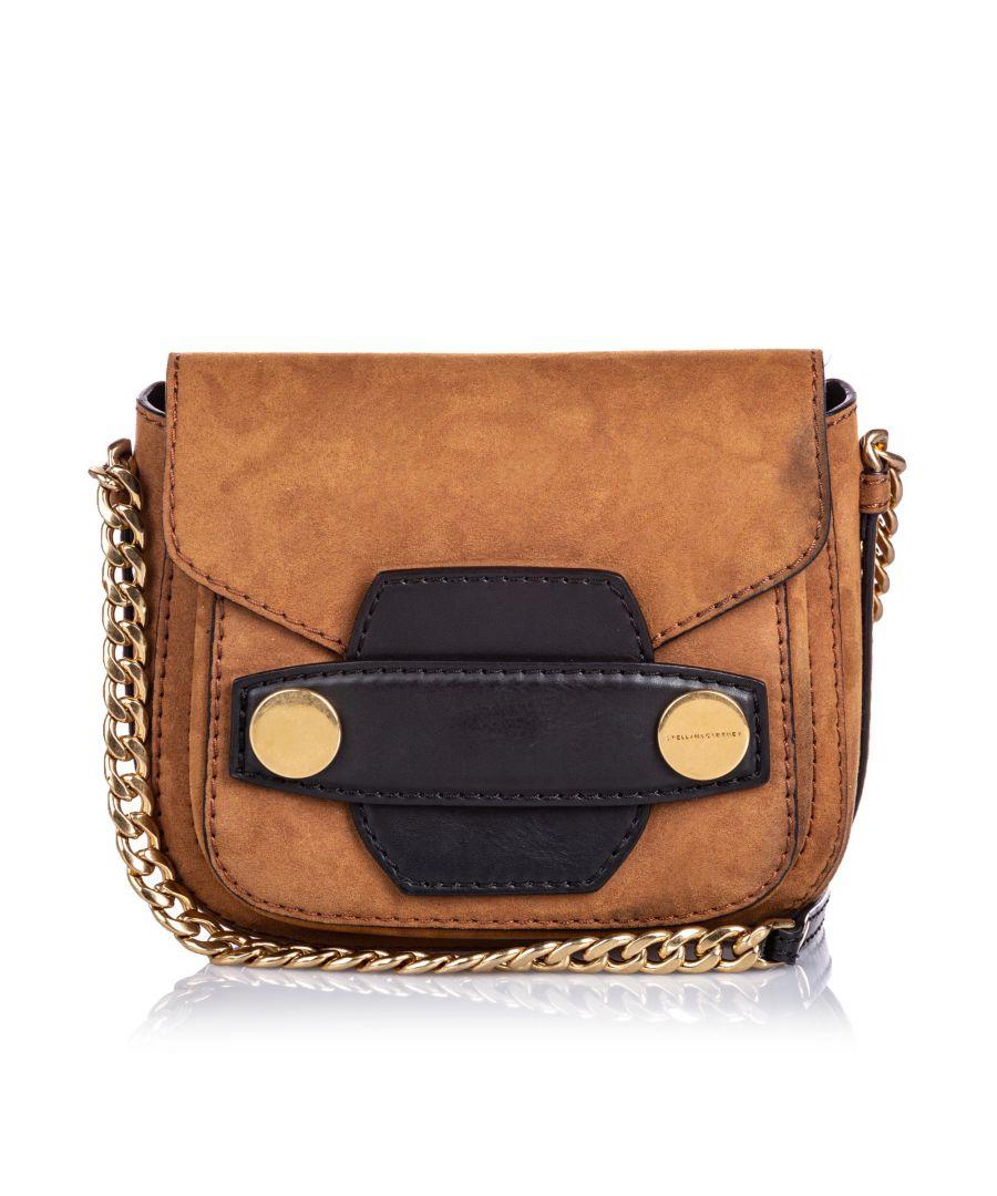 Image for Vintage Stella McCartney Small Popper Crossbody Bag Brown
