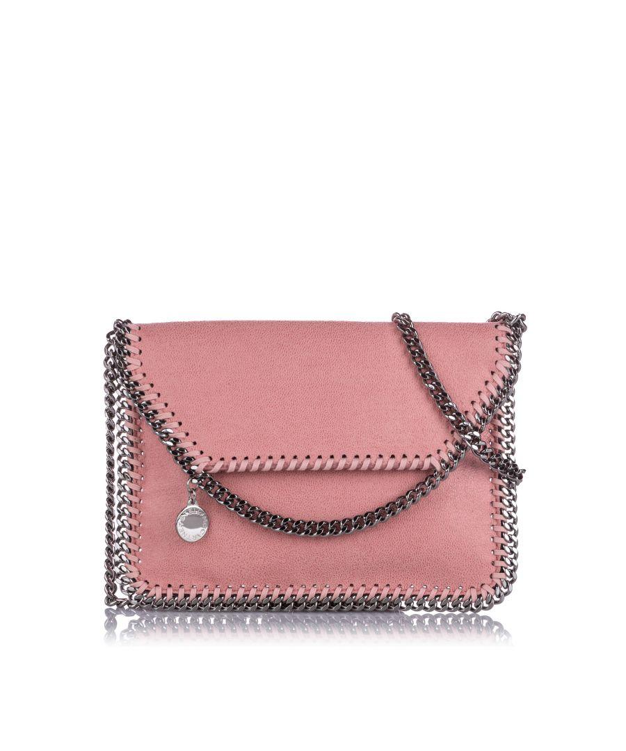 Image for Vintage Stella McCartney Mini Falabella Shaggy Deer Crossbody Bag Pink