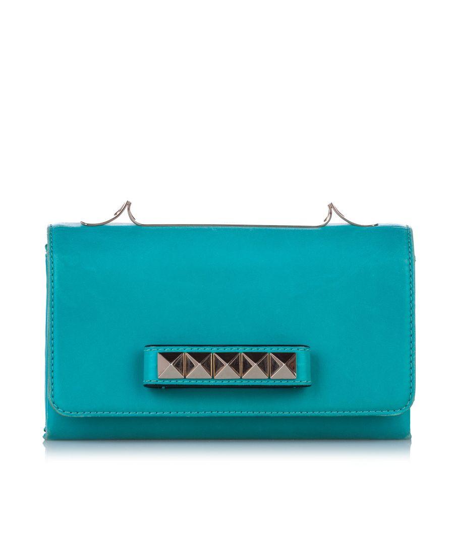 Image for Vintage Valentino Rockstud Va Va Voom Leather Shoulder Bag Blue