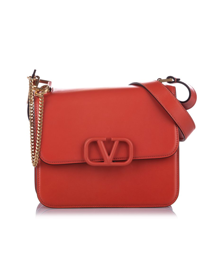 Image for Vintage Valentino Medium VSling Leather Crossbody Bag Red