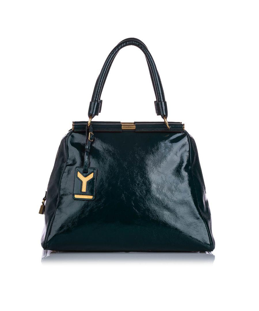 Image for Vintage YSL Majorelle Patent Leather Handbag Green