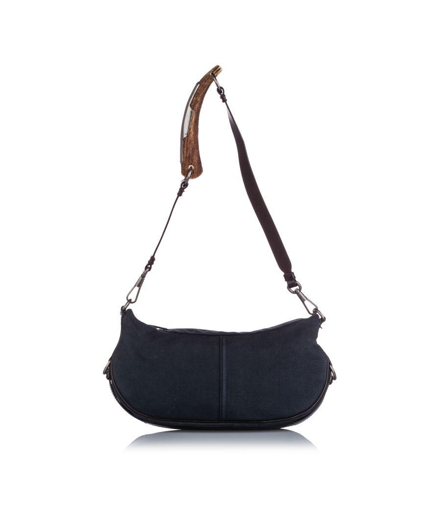 Image for Vintage YSL Mombasa Denim Shoulder Bag Blue