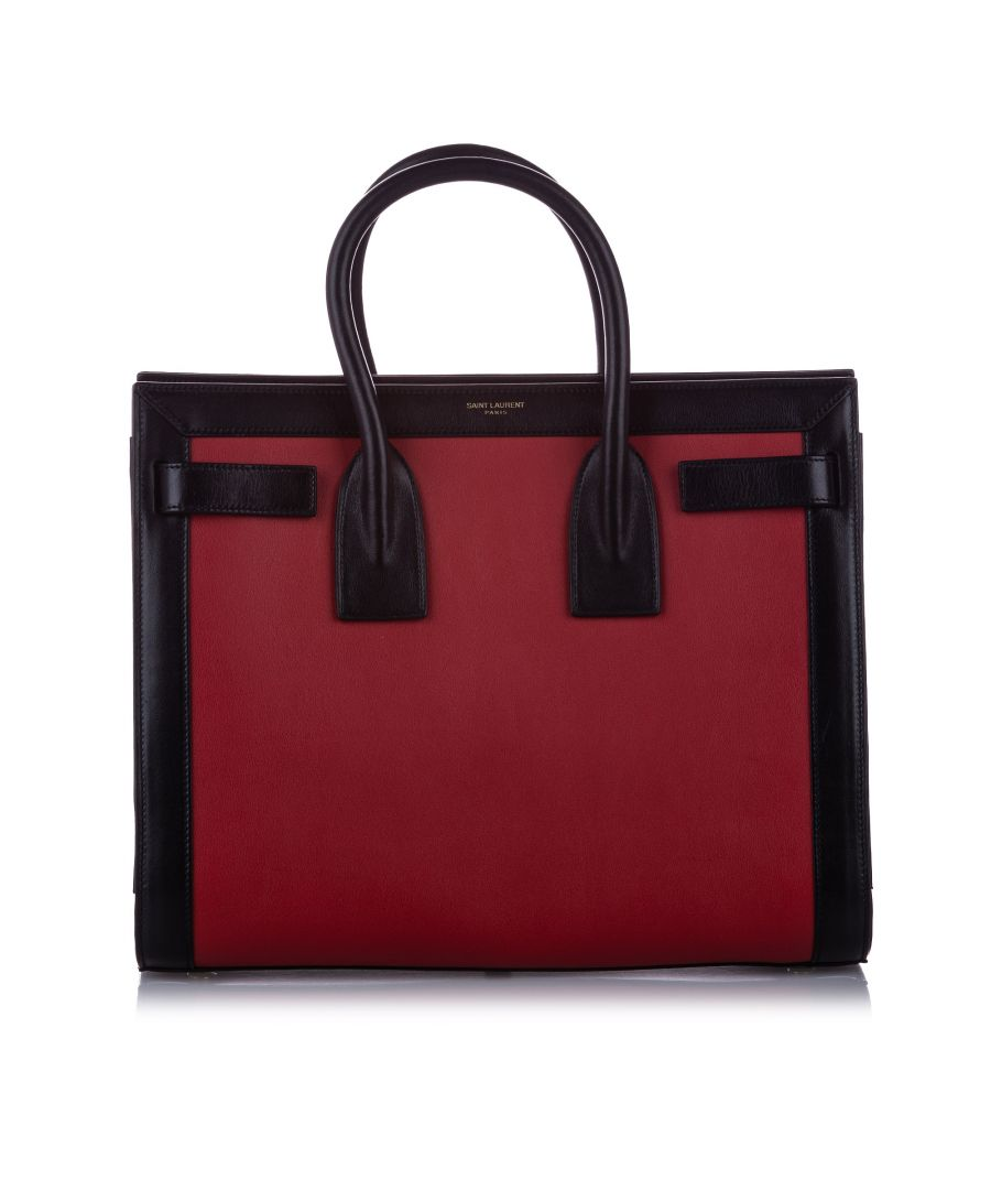 Image for Vintage YSL Sac de Jour Leather Satchel Red