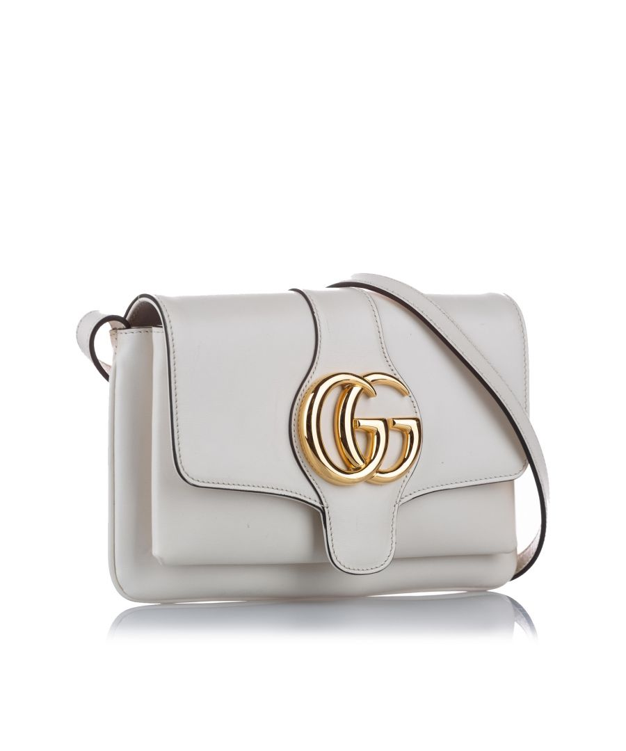 Image for Vintage Gucci Arli Leather Crossbody Bag White