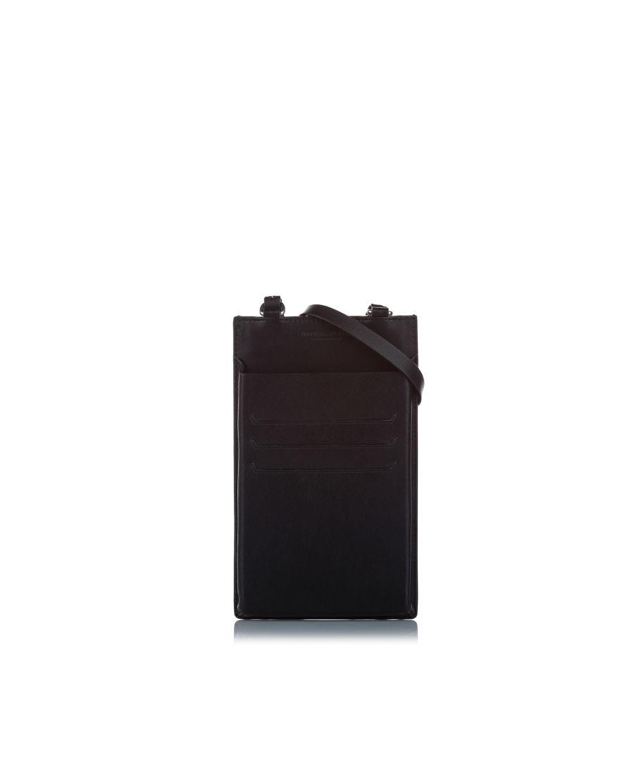 Image for Vintage Bottega Veneta Intrecciato Wearable Leather Pouch Black