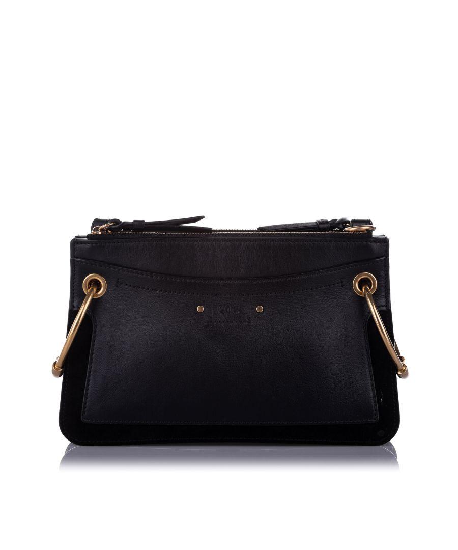 Image for Vintage Chloe Roy Leather Satchel Black