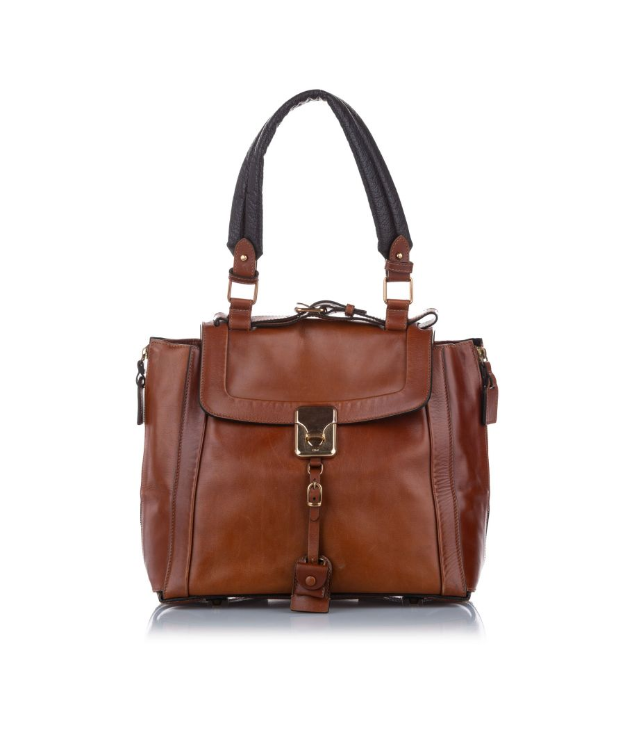 Image for Vintage Chloe Darla Leather Shoulder Bag Brown