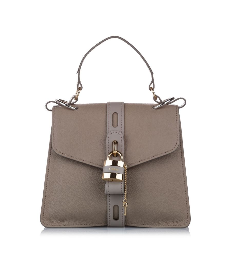 Image for Vintage Chloe Medium Aby Leather Satchel Gray