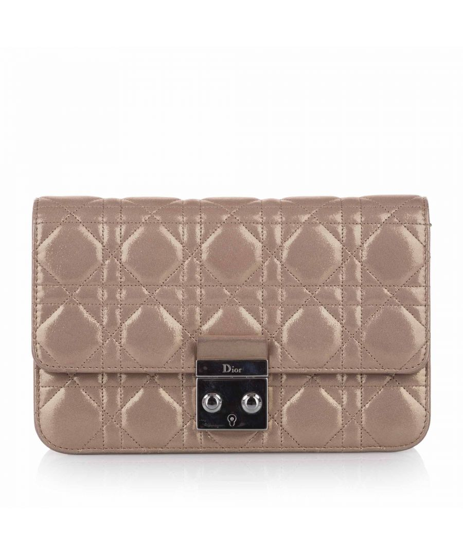 Image for Vintage Dior Cannage Miss Dior Promenade Chain Crossbody Bag Brown