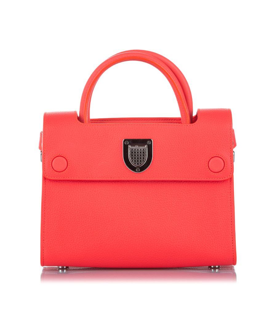 Image for Vintage Dior Diorever Leather Satchel Orange