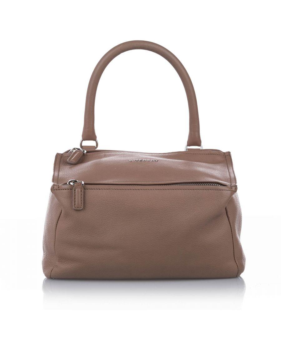 Image for Vintage Givenchy Pandora Leather Satchel Brown