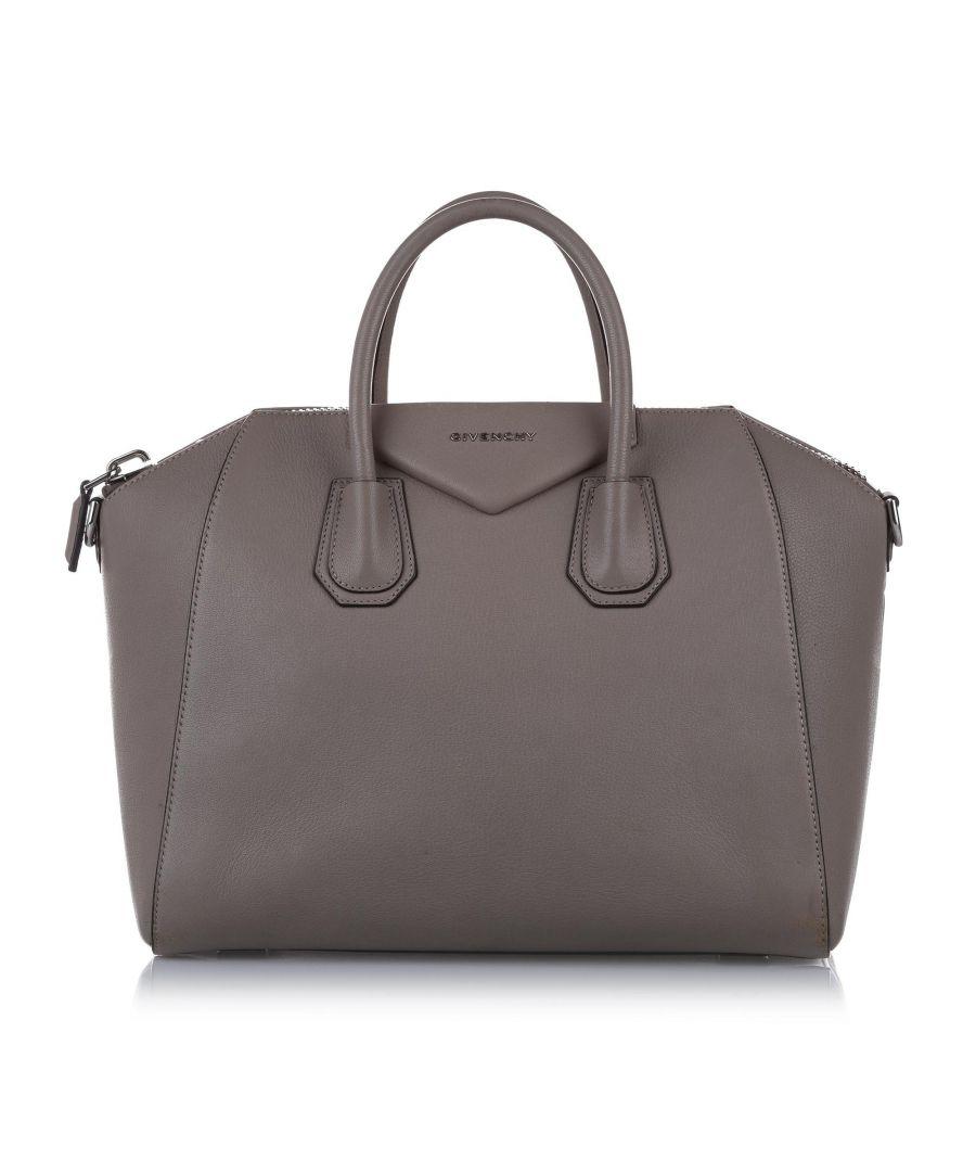 Image for Vintage Givenchy Medium Antigona Leather Satchel Brown