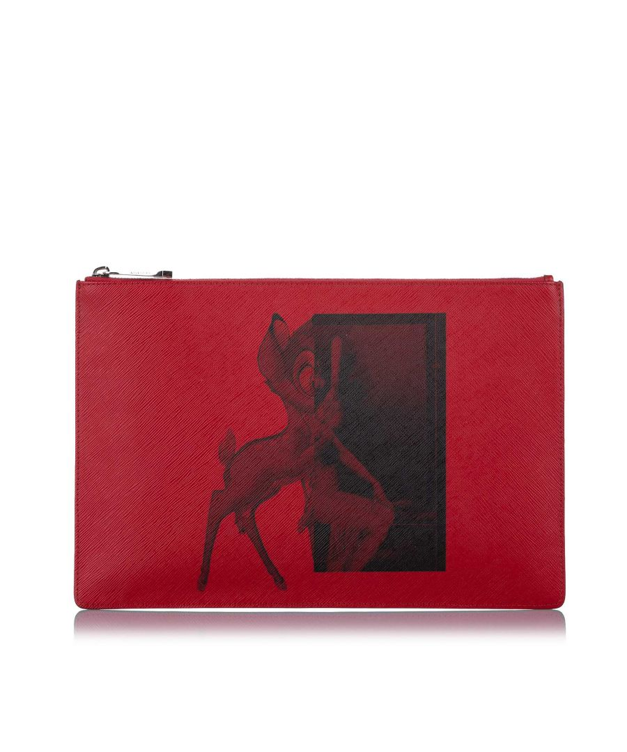 Image for Vintage Givenchy Bambi Leather Pouch Red