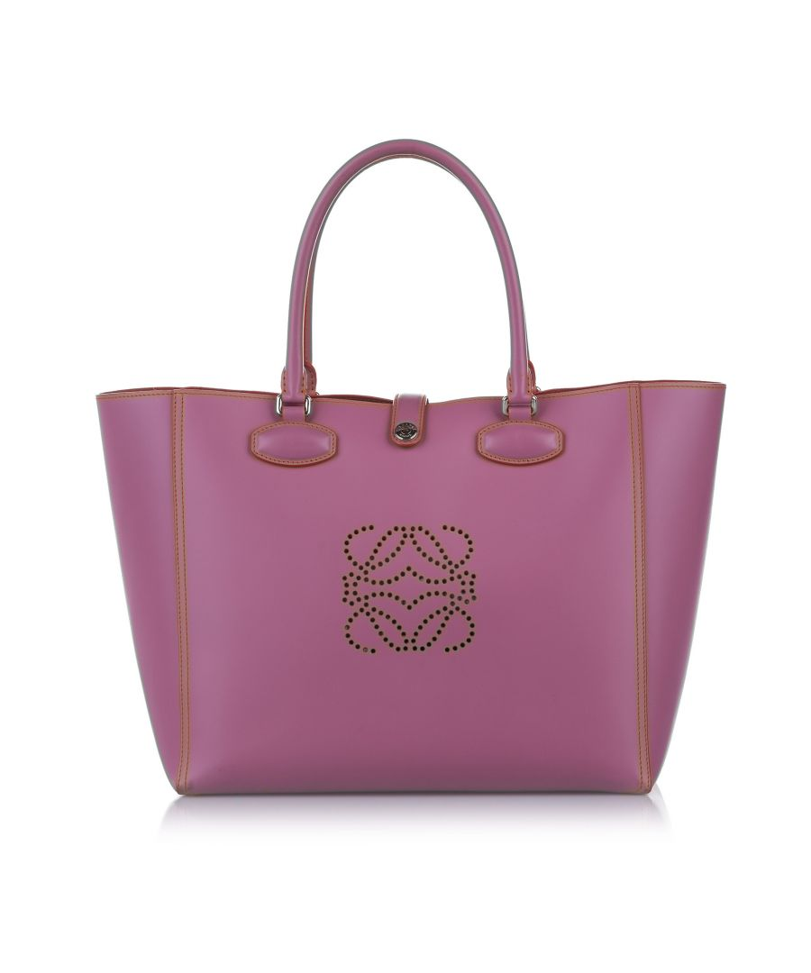 Image for Vintage Loewe Amazona Leather Tote Bag Pink