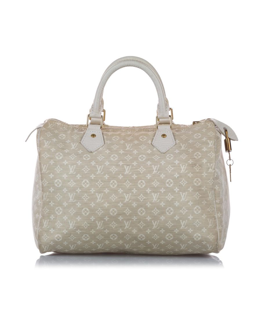 Image for Vintage Louis Vuitton Monogram Idylle Speedy 30 White