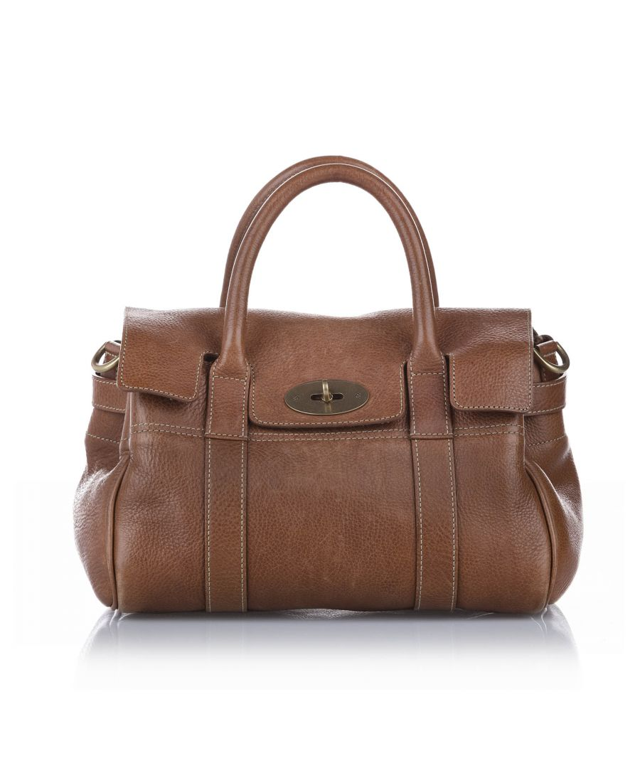 Image for Vintage Mulberry Bayswater Leather Satchel Brown