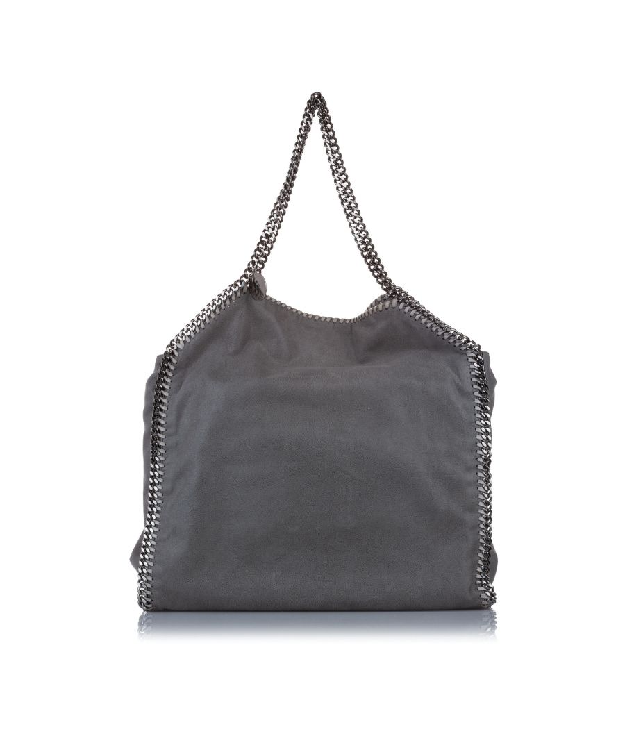 Image for Vintage Stella McCartney Falabella Fold-Over Tote Bag Gray
