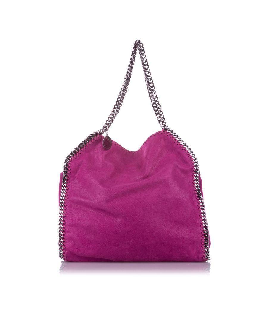 Image for Vintage Stella McCartney Falabella Fold-Over Tote Bag Pink