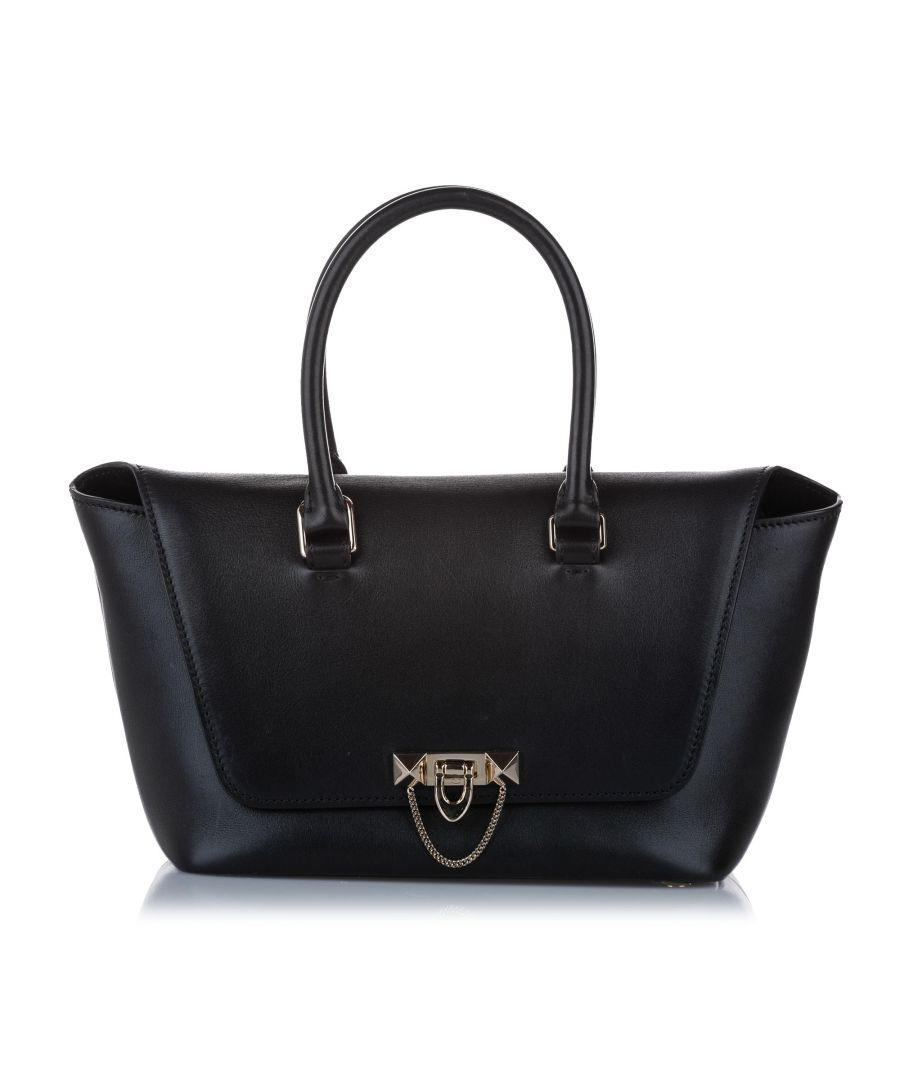 Image for Vintage Valentino Demilune Leather Satchel Black