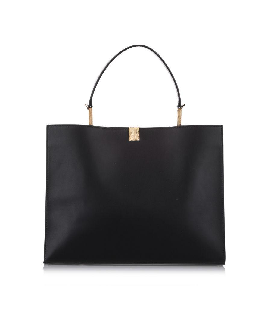 Image for Vintage Balenciaga Le Dix Leather Satchel Black
